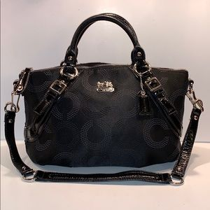Coach Doted Op Art Sofia Satchel 16260 Handbag